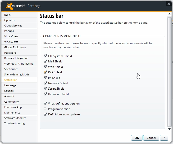 avast behavior shield uninstall