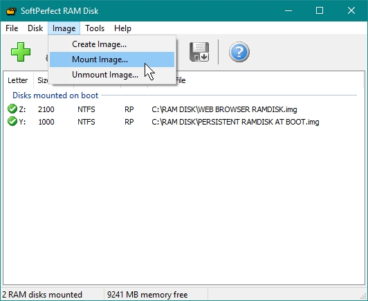 SOFTPERFECT RAMDISK CREATE A RAMDISK WHILE WILL BE MANUALLY MOUNTED, SAVED AND UNMOUNTED_21-07-2016_10-20-14