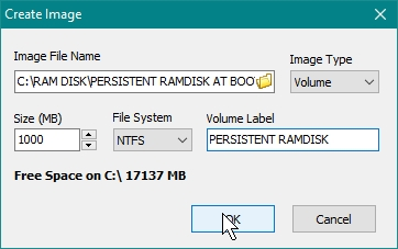 SOFTPERFECT RAMDISK CREATE PERSISTENT RAMDISK WHICH WILL BE MOUNTED AT BOOT UP_21-07-2016_09-47-59