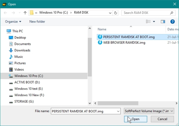 SOFTPERFECT RAMDISK CREATE PERSISTENT RAMDISK WHICH WILL BE MOUNTED AT BOOT UP_21-07-2016_09-48-55