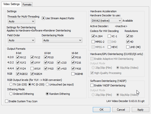 KLITE CODEC PACK STANDARD 10 LAV FILTER SETTINGS_24-01-2015_00-59-11