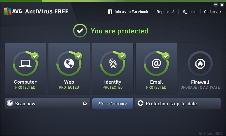AVG FREE ANTIVIRUS 2015 INTERFACE_001_17122014_114427