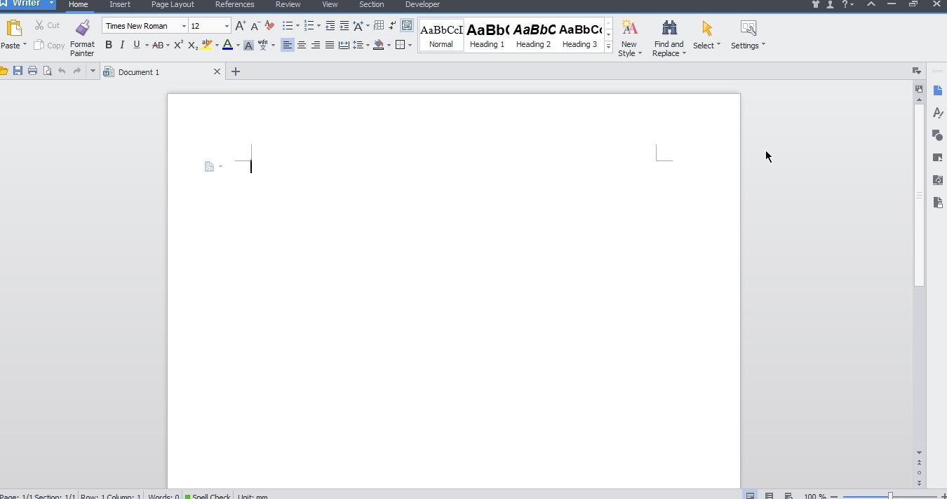 Kingsoft writer document download