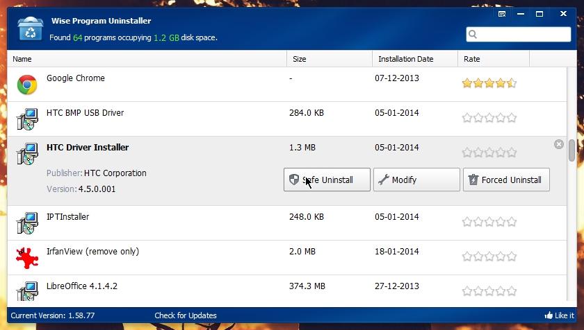 Wise Program Uninstaller Remove Leftover Files Folders
