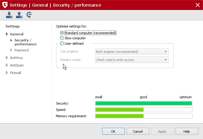 2014-04-05 05_47_25-_G DATA INTERNET SECURITY 2015_Settings _ General _ Security _ performance