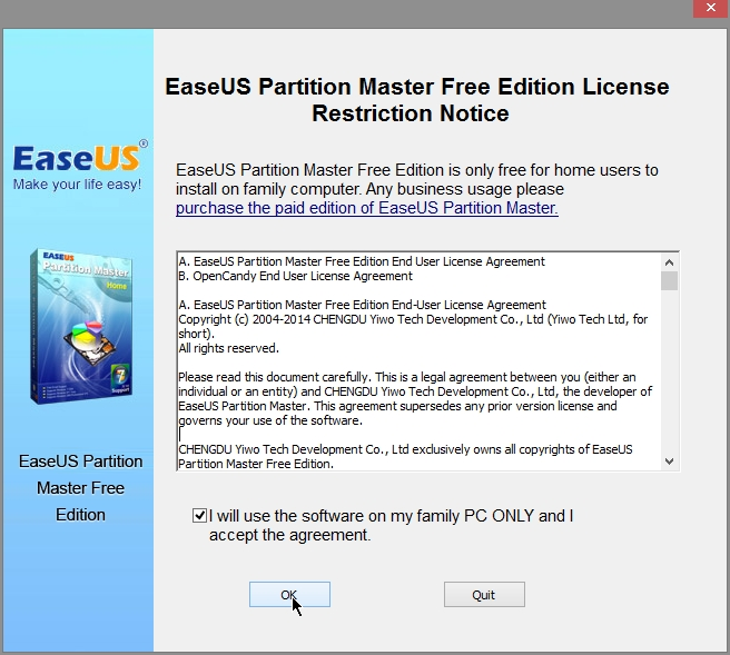 EaseUS Partition Master Home Edition Free ver  10 Review +