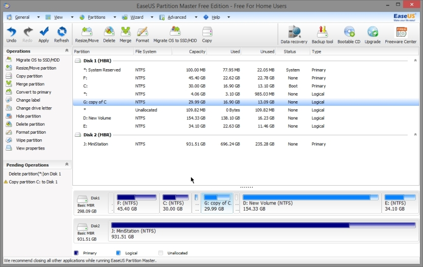 EASEUS PARTITION MASTER FREE 10_030_11042014_010913