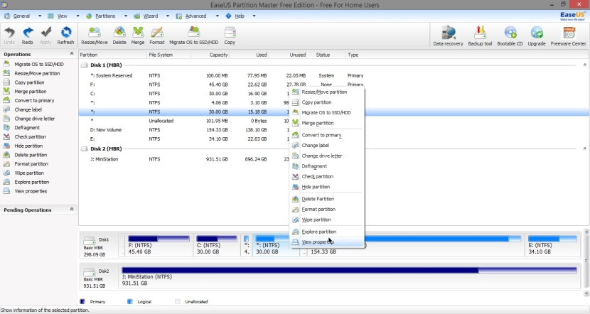 EASEUS PARTITION MASTER FREE 10_037_11042014_011019