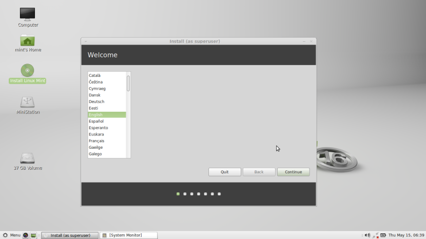 Linux Mint 16 MATE 1