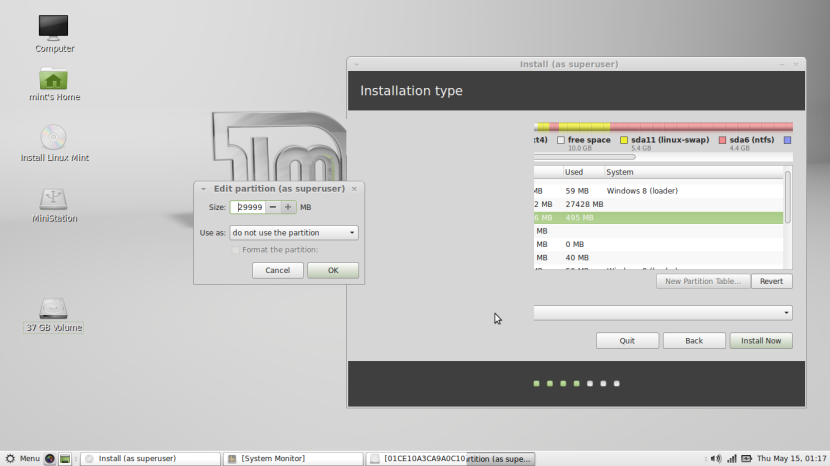 Linux Mint 16 MATE8