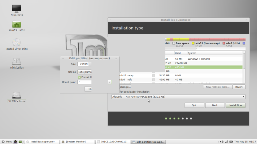 Linux Mint 16 MATE9