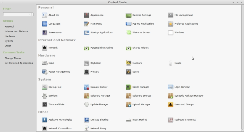 LINUX MINT 17 MATE Control Center_013