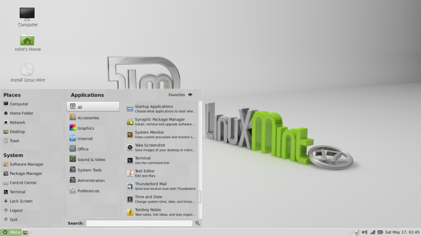 LINUX MINT 17 MATE Screenshot desktop