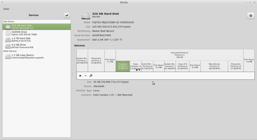 LINUX MINT 17 MATE Screenshot-Disks