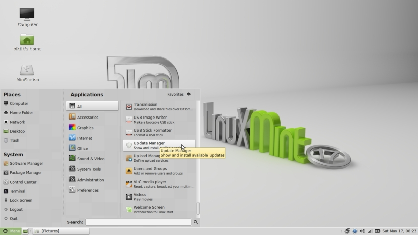 LINUX MINT 17 MATE Workspace 1_002