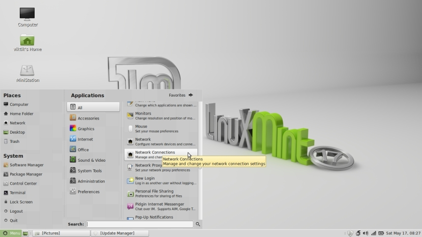 LINUX MINT 17 MATE Workspace 1_004