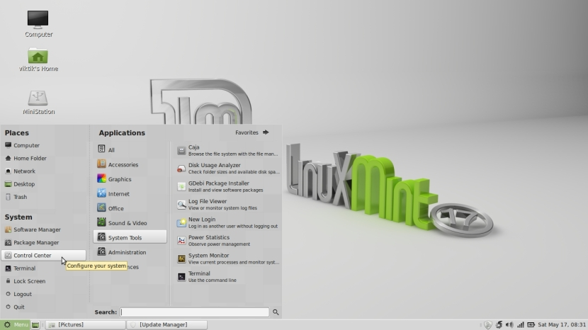 LINUX MINT 17 MATE Workspace 1_012