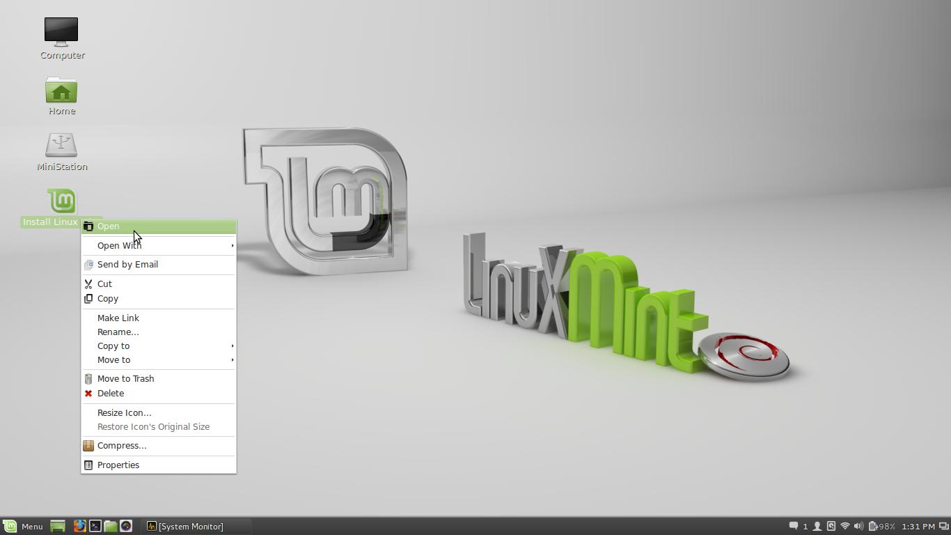 how to delete dev dm-1 linux mint