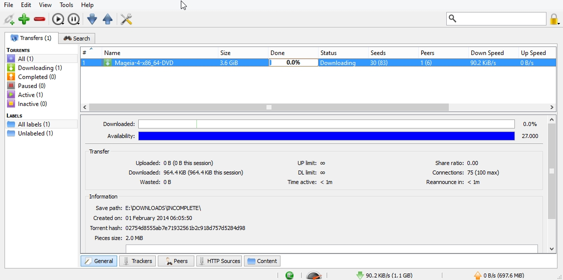 QBittorrent v3 – opensource torrrent client review + settings