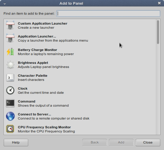 LINUX MINT 17 MATE Add to Panel_040
