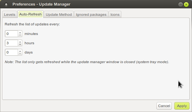 LINUX MINT 17 MATE Preferences - Update Manager_005