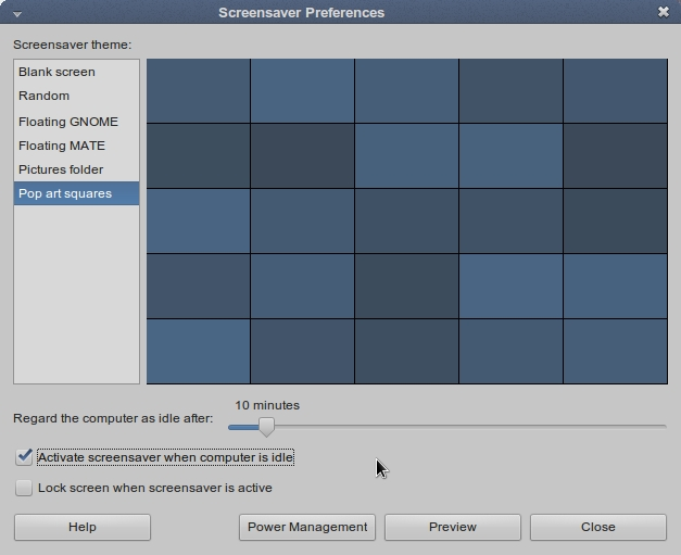 LINUX MINT 17 MATE Screensaver Preferences_015