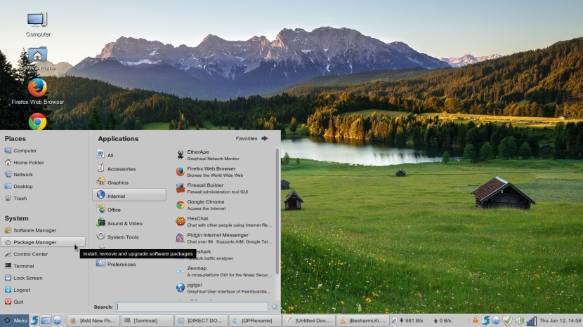 LINUX MINT 17 MATE Workspace 1_034