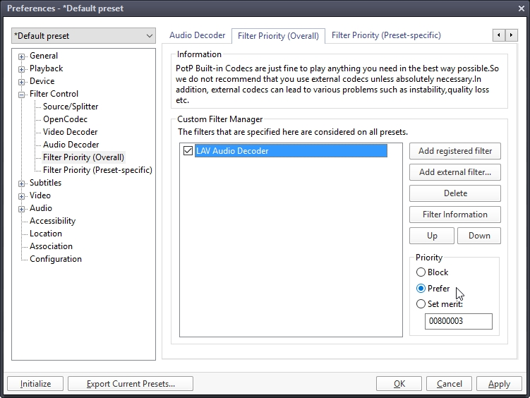 Daum Potplayer – Free media player + settings | Cyber Raiden