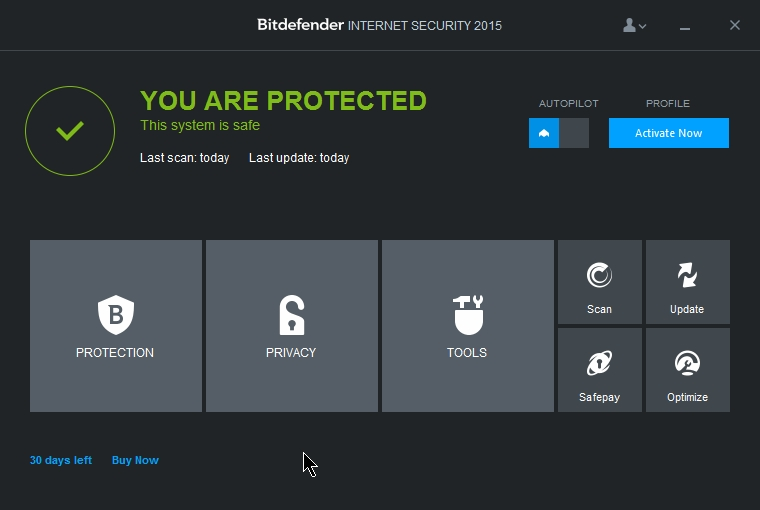 BITDEFENDER INTERNET SECURITY 2015 INTERFACE_001_02072014_222839