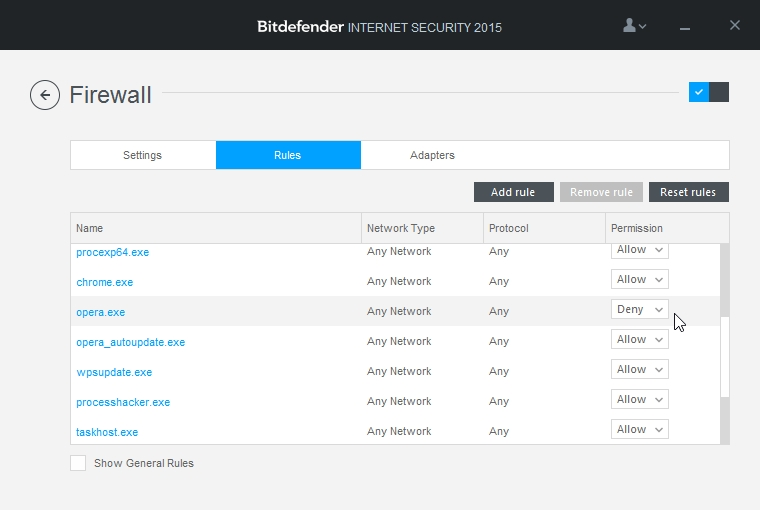 BITDEFENDER INTERNET SECURITY 2015 SETTINGS FIREWALL_10-04-2015_23-07-37