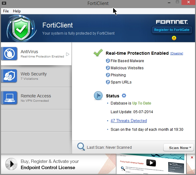 Forticlient Endpoint Protection 5 Review Settings