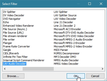MEDIA PLAYER CLASSIC BLACK EDITION ADD EXTERNAL LAV FILTERS_30-05-2016_16-45-30