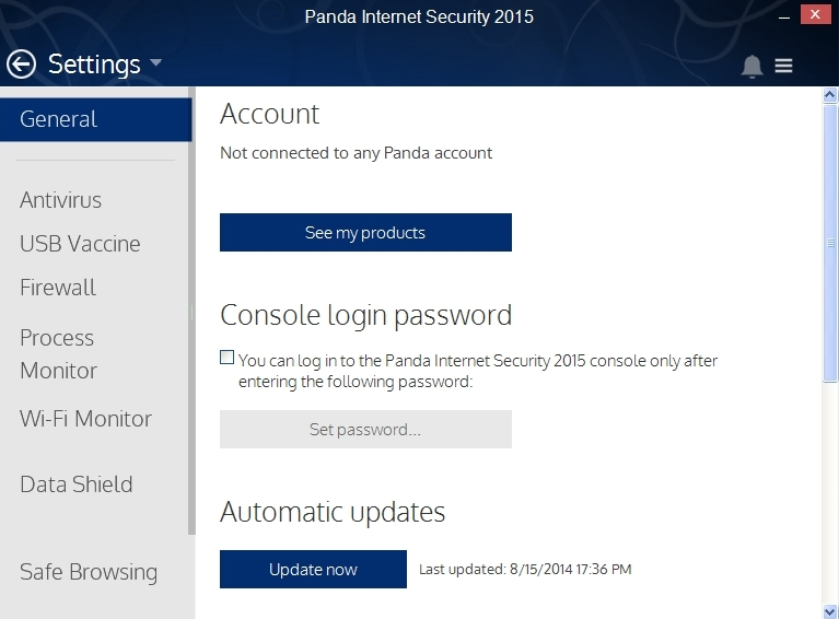 PANDA INTERNET SECURITY 2015 SETTINGS_009_15082014_174954