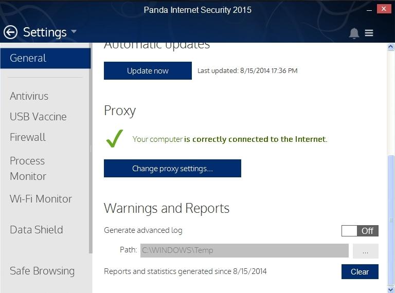 PANDA INTERNET SECURITY 2015 SETTINGS_010_15082014_175015