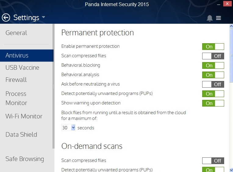 PANDA INTERNET SECURITY 2015 SETTINGS_011_15082014_175033