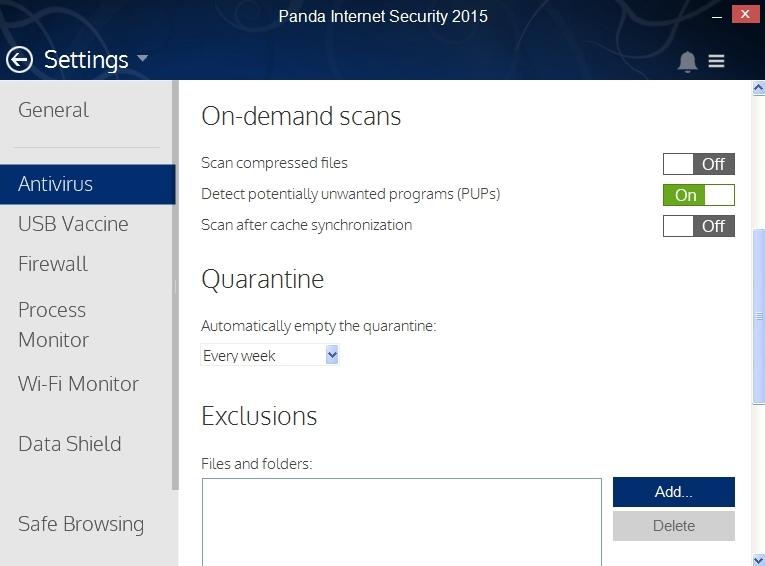 PANDA INTERNET SECURITY 2015 SETTINGS_012_15082014_175047