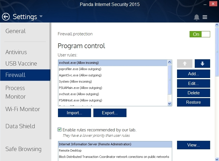 PANDA INTERNET SECURITY 2015 SETTINGS_015_15082014_175242