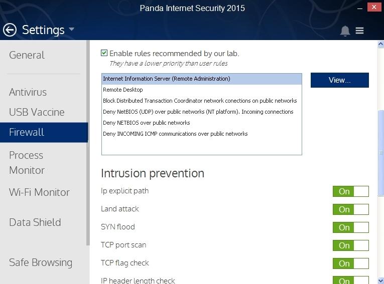 Panda Internet Security 2015 Review Settings Cyber