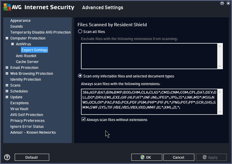 AVG INTERNET SECURITY 2015 SETTINGS_17092014_233402