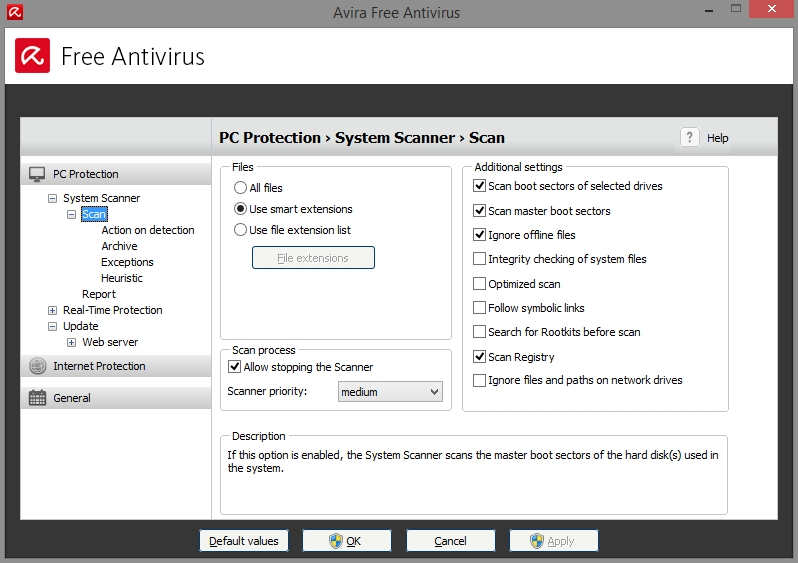 AVIRA FREE ANTIVIRUS 2015 SETTINGS_19102014_080712