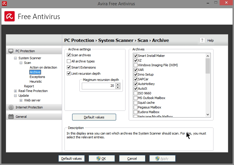 AVIRA FREE ANTIVIRUS 2015 SETTINGS_19102014_080746