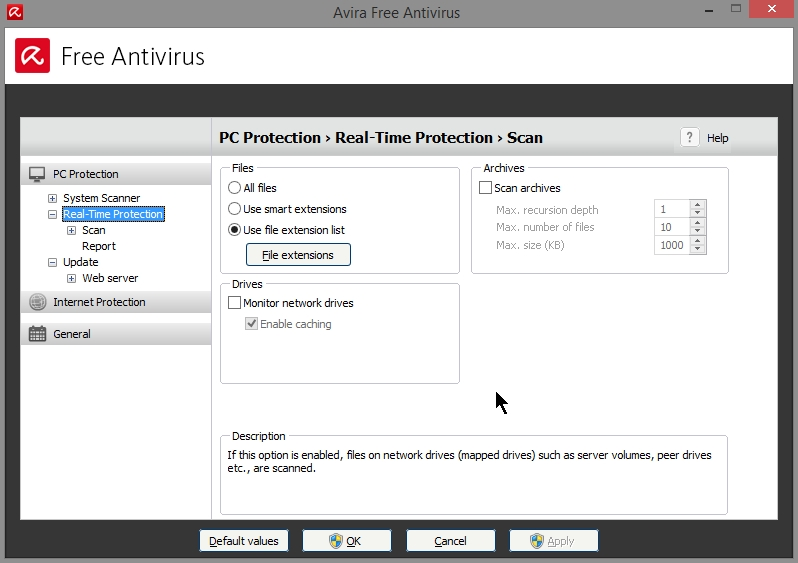 AVIRA FREE ANTIVIRUS 2015 SETTINGS_19102014_080812