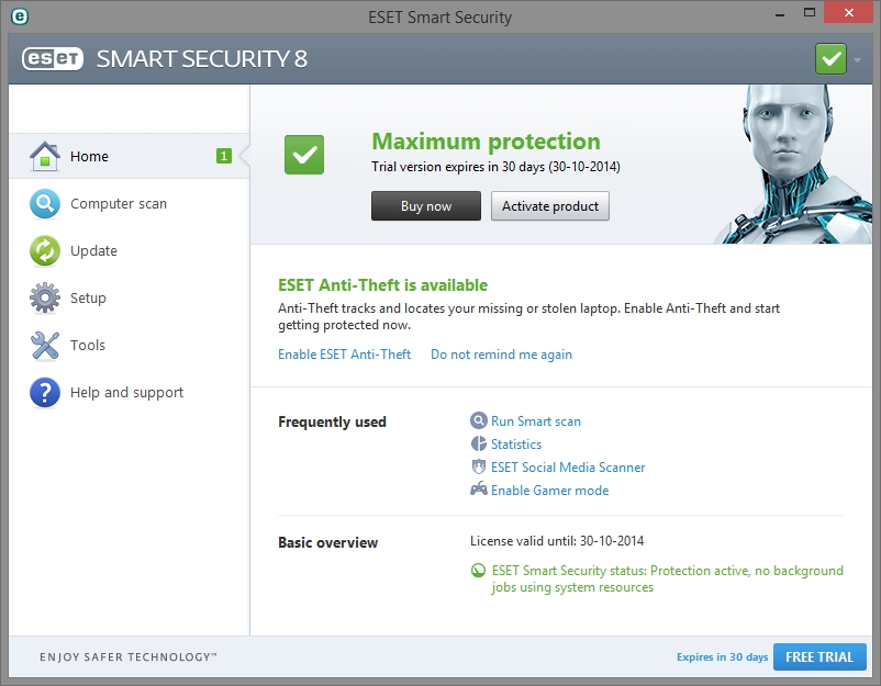 ESET SMART SECURITY 8 INTERFACE_01102014_132710