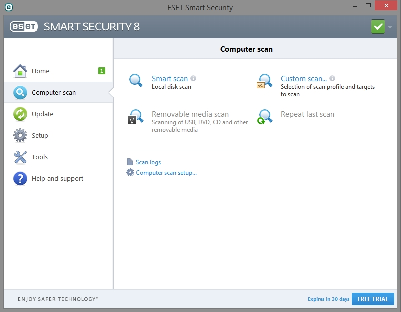 ESET SMART SECURITY 8 INTERFACE_01102014_132714