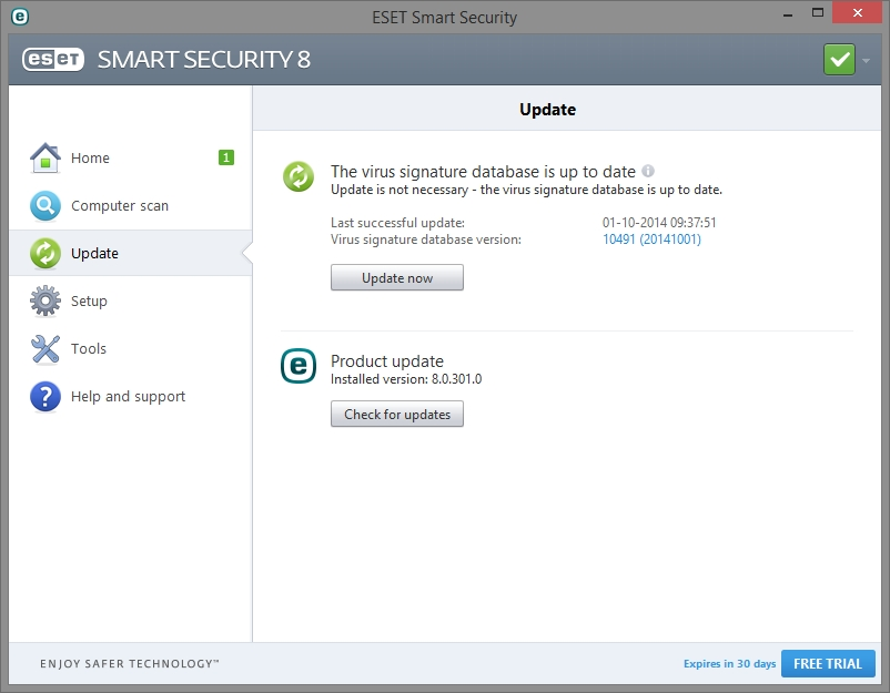 ESET SMART SECURITY 8 INTERFACE_01102014_132718