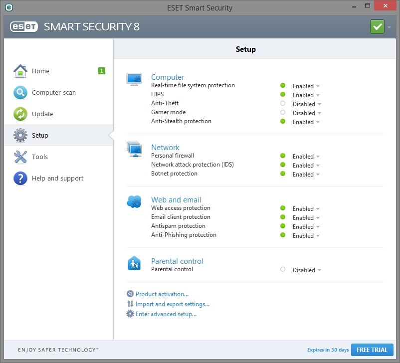 ESET SMART SECURITY 8 INTERFACE_01102014_132731