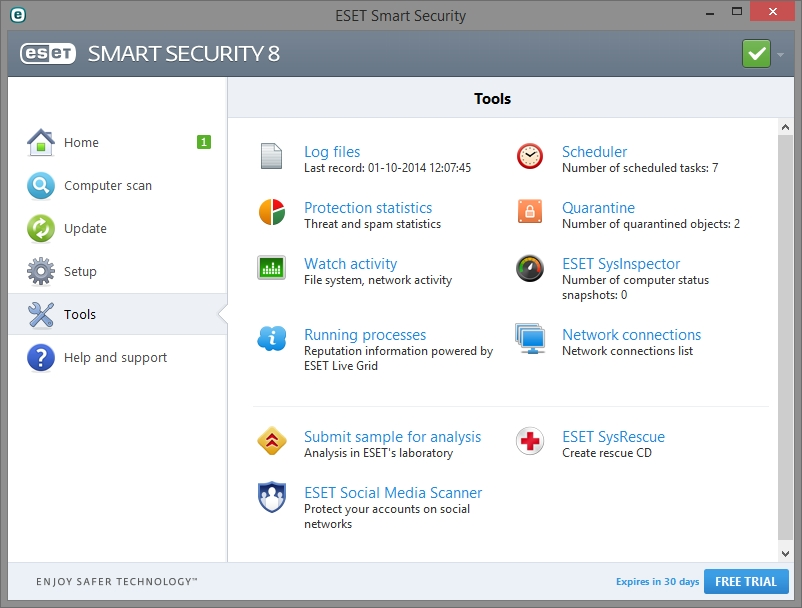 ESET SMART SECURITY 8 INTERFACE_01102014_132738