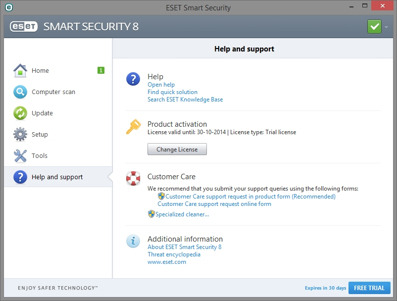 ESET SMART SECURITY 8 INTERFACE_01102014_132743