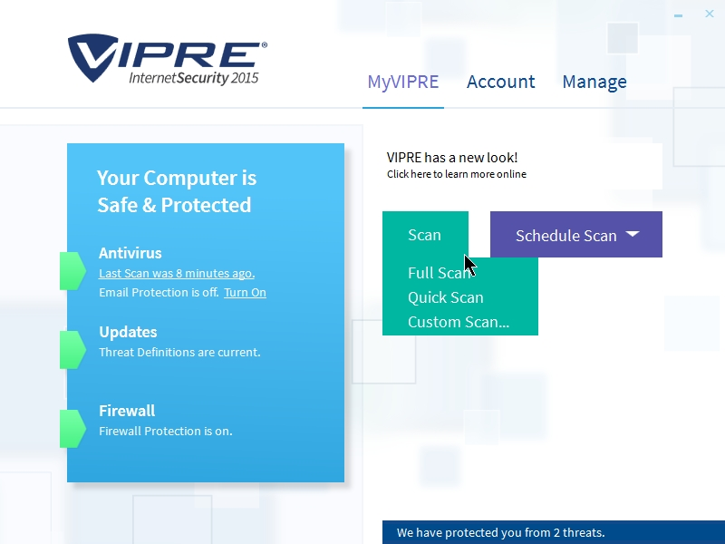 VIPRE INTERNET SECURITY 2015 INTERFACE_08102014_235811