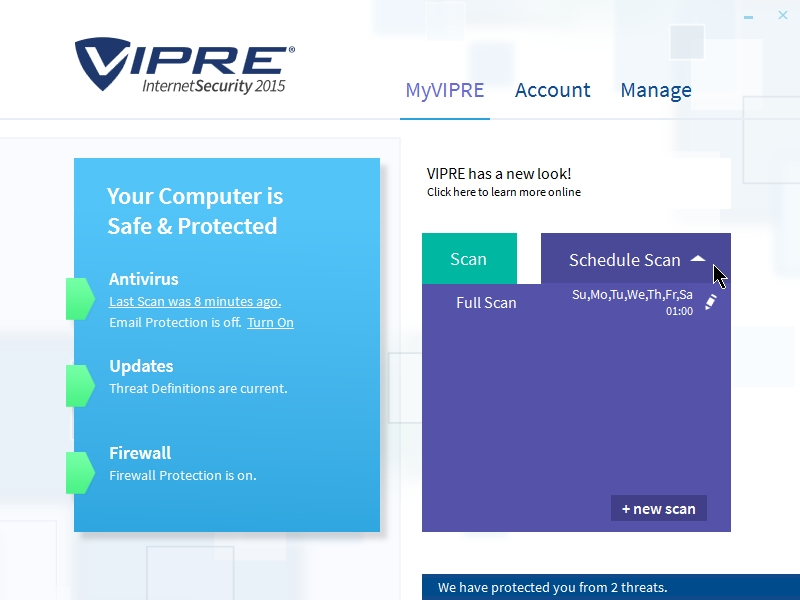 VIPRE INTERNET SECURITY 2015 INTERFACE_08102014_235821